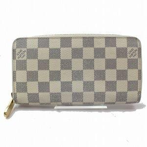 100% Auth Louis Vuitton Zippy Damier Azur Wallet